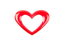 Red heart frame. Beautiful red heart frame isolated on white Stock Image