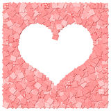 Red heart frame canvas background. The red heart frame canvas background royalty free illustration