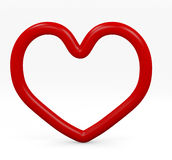 Red heart. Frame 3d, stroke Royalty Free Stock Photo