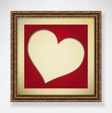 Red heart in frame Royalty Free Stock Photo
