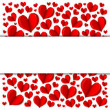 Red heart frame. Frame with red hearts on a white background. Vector Royalty Free Stock Photos