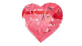 Red heart gemstone stock footage
