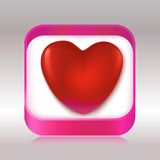 Red heart in a gift box Stock Photo