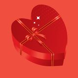 Red heart gift box Royalty Free Stock Images