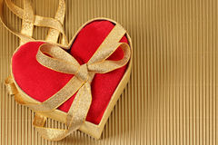 Red heart in a gift box Royalty Free Stock Image