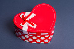 Red heart gift box Stock Images