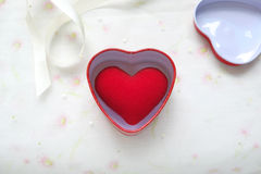 Red heart gift Royalty Free Stock Images