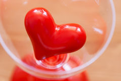 Red heart in glass Royalty Free Stock Photo