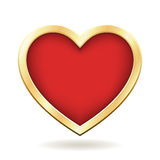 Red Heart with Golden Frame Stock Photos