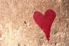 Red heart graffiti Stock Photos