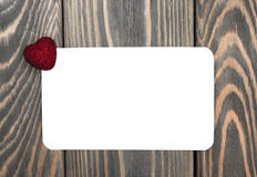 Red heart and greeting card Royalty Free Stock Photo