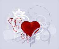 Red heart on a grey background Royalty Free Stock Photography