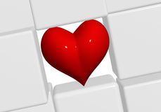 The red heart in grey cubes 2 Royalty Free Stock Photos