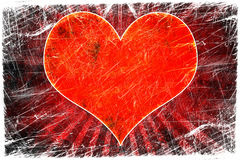 Red heart on grunge Stock Images