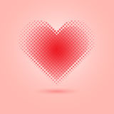 Red heart halftone on pink background Royalty Free Stock Photography