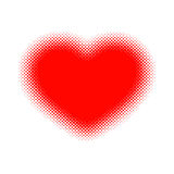 Red heart halftone. Vector illustration. Royalty Free Stock Photo