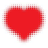 Red Heart Halftone. Vector Illustration for your design Royalty Free Stock Images