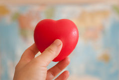 Red heart in hand Royalty Free Stock Photos