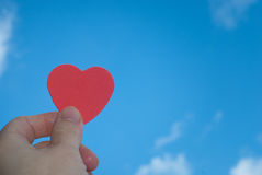 Red heart in hand Stock Image