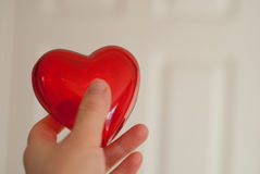 Red heart in hand Royalty Free Stock Images