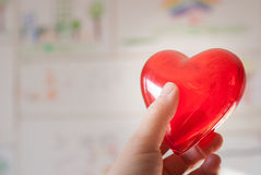 Red heart in hand Royalty Free Stock Photography