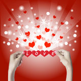 Red heart in the hands. Royalty Free Stock Photo