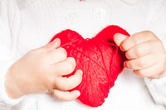 Red heart in hands Royalty Free Stock Photography