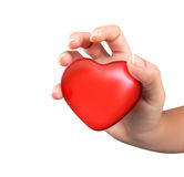 Red heart in hands Stock Image