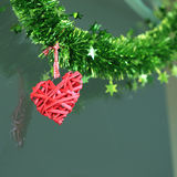 Red heart hanging Royalty Free Stock Image
