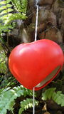 Red heart hanging mobile Royalty Free Stock Images