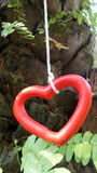 Red heart hanging mobile Royalty Free Stock Image