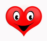 Red heart with happy smiling face Royalty Free Stock Photo
