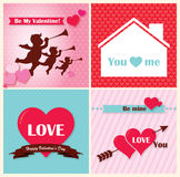 Red heart happy valentine day Stock Images