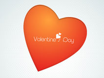 Red heart for Happy Valentine's Day celebration. Royalty Free Stock Photo
