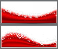 Red heart headers. Royalty Free Stock Photography