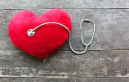 Red heart health and doctor check royalty free stock photo