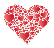 Red heart in heart  vector Stock Images