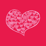 Red heart from hearts Royalty Free Stock Photos