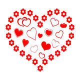 Red Heart with Hearts Royalty Free Stock Photos