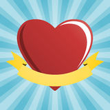 Red heart with heraldic element Royalty Free Stock Photo