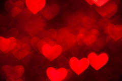 Red heart holiday background Royalty Free Stock Photo