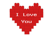 Red heart I Love You Stock Images