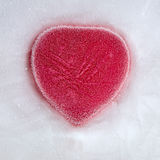 red heart  in ice Stock Photography