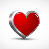 Red heart icon Stock Photo