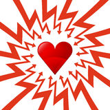 Red heart icon in arrow zigzag circle vector Royalty Free Stock Photo