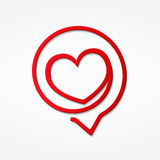 Red Heart Icon Royalty Free Stock Photography