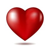 Red heart icon isolated on white Stock Images