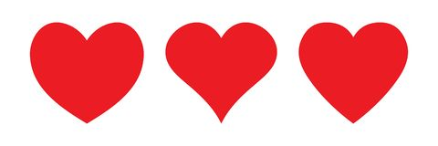 Free Red Heart Icon, Love Icon Royalty Free Stock Images - 128437949