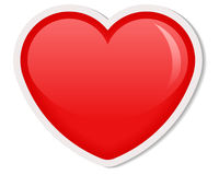 Red heart. Icon. Love symbol - vector illustration Stock Images