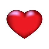 Red heart2. Red Heart icon for various designs Royalty Free Stock Photo